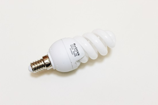 DAYLIGHT SPIRAL MICRO ENERGY SAVER LIGHT BULB (E14 CAP)