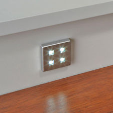 6 X SQUARE KITCHEN LED PLINTH LIGHT KIT (BRIGHT 0.5W EACH)